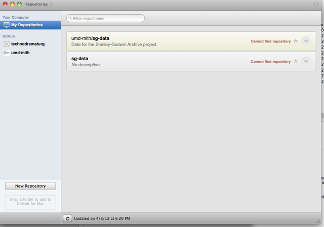 Screenshot of GitHub for Mac app