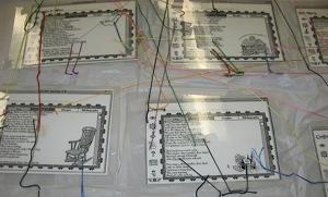 Larsen Collection Shower Curtain Hypertext