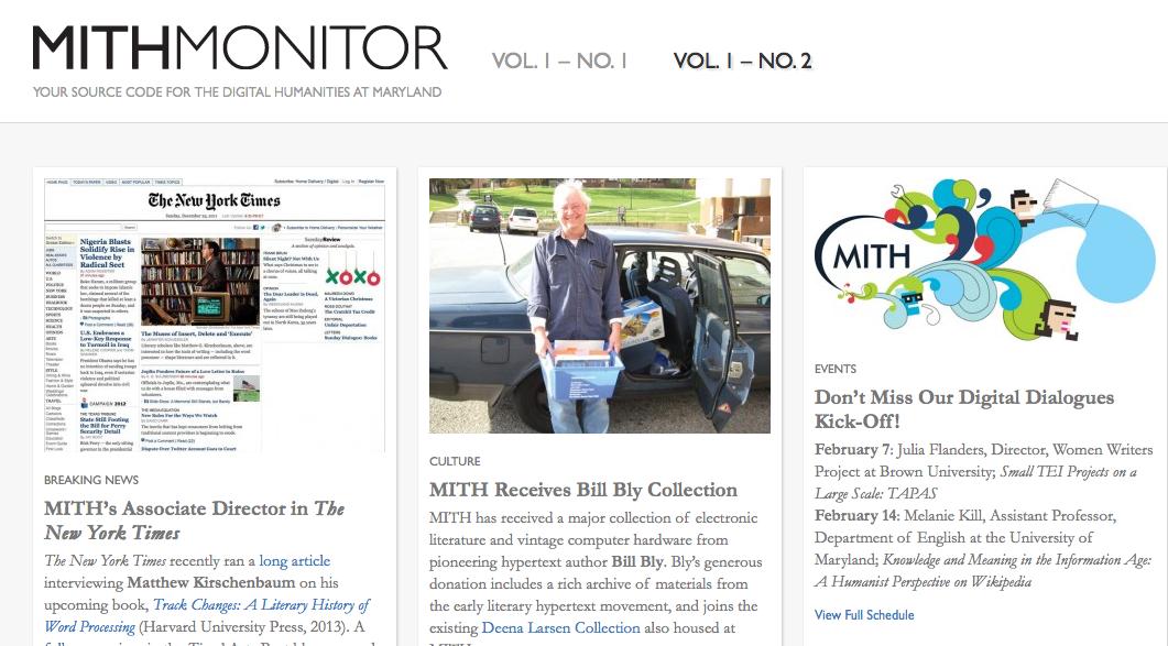 MITH Monitor - Spring 2012