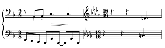 Excerpt from Sonata for Flute Viola and Harp by Debussy