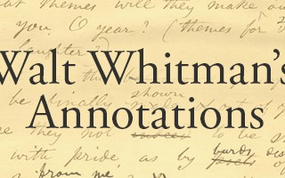 Walt Whitman's Annotations