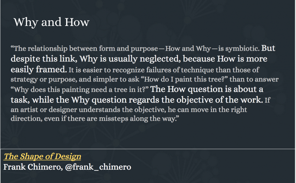 Frank Chimero - Why and How