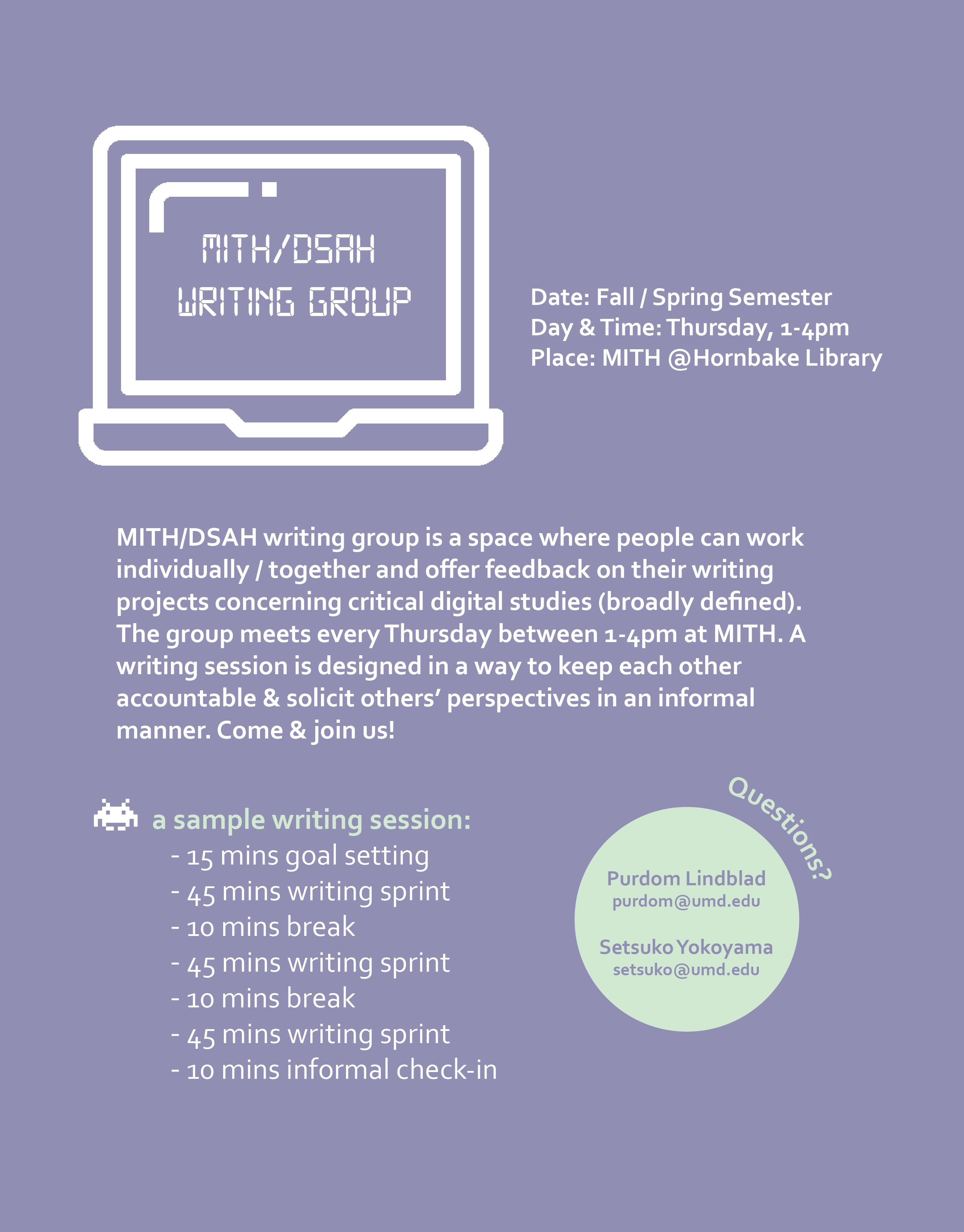MITH/DSAH Writing Group