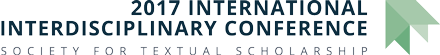 Society for Textual Scholarship: 2017 International Interdisciplinary Conference Logo