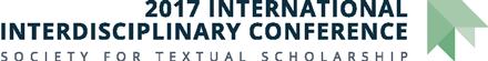 Society for Textual Scholarship: 2017 International Interdisciplinary Conference Logo