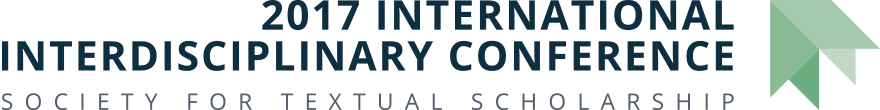 Society for Textual Scholarship: 2017 International Interdisciplinary Conference Retina Logo