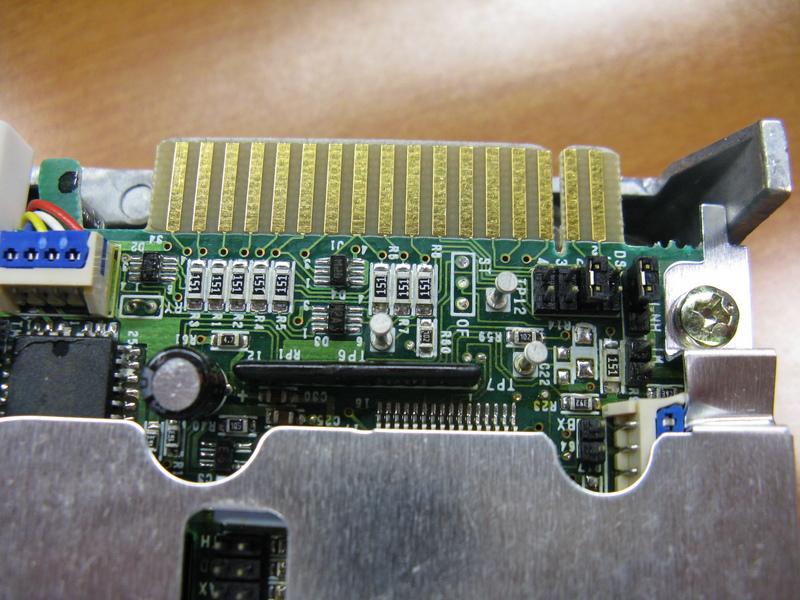 An edge connector on a drive.